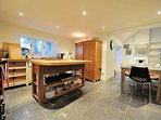The social kitchen and dining room, perfect for entertaining