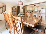 Dining room bordering kitchen