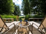 Lounge chairs on the perfect porch setting for beautiful and peaceful views