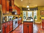 Prepare tasty meals in the fully equipped gourmet kitchen.