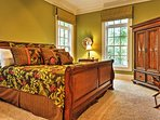 Rest up on the king bed in the Master.