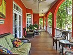 You'll love hanging out on the fully furnished deck.