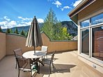 Enjoy marvelous views from the private patio overlooking Main St.