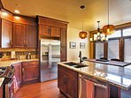 Prepare new and favorite dishes alike in the fully equipped kitchen.