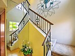 Retreat to your bedrooms up the cushioned staircase.