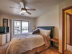 End the night in the comfy king-sized bed in the master bedroom.