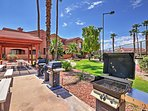 Have a cookout on the barbecue grills while lounging by the pool.