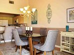 Updated dining table and barstools