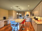 Stainless Steel Appliances and Large Center Island