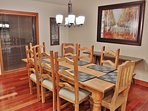 Updated dining room area with seating for 8 guests in Silver Cliff - Park City