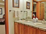 Master bathroom with dual vanities in Silver Cliff - Park City