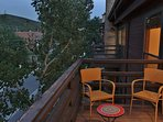 Private deck off living room at Silver Cliff - Park City