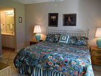 King size comfort in the Master bedroom.