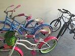 4 adults bike 2 children bikes
