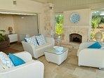 Wonderful sun terrace with fireplace