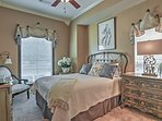 Retire to this darling bedroom for a restful night's sleep.