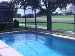 Pool overlooking 18th Fairway