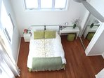 View of the master bedroom from the loft