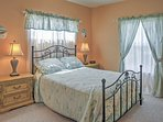 A queen-sized bed is available in the second bedroom.