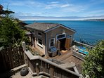 Upper level of ONE-OF-A-KIND direct oceanfront custom Beach House on desirable Pedro Point.
