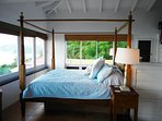 Master bedroom with 4 poster bed and amazing views to wake up with over 180 Views.