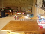 Barn with toys and and games