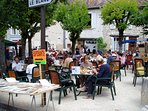 Eat, drink and chat in the many cafes in village squares