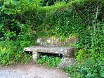 Stone bench on the road down to Mousehole