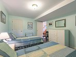 Lower Level Guest Bedroom with 2 Singles