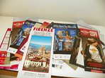 Map of Florence, flyers with events and tourist spots