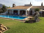 Spanish style Villa well  equipped and set with  fantastic views of Mijas hills .