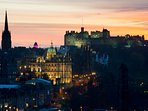 Beautiful Edinburgh skyline by night