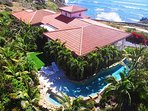 Aerial picture villa with ocean view