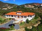 Aerial picture Villa
