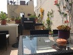 Roof terrace with bbq