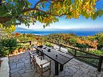 Our south veranda with a view on the Corinthian gulf