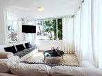 Your living room with beach view