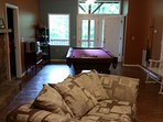 Downstairs TV family room w/outlet to scenic lower deck. Add'l kitchen & 3BR/2BA