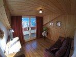 Camera divano letto con vista panoramica