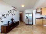 Living room has AC as well as each bedroom