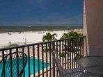 Private Balcony Overlooking Madeira Beach on the First Floor