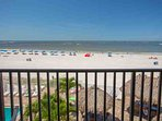 Large Private Beachfront Balcony with Gulf Views