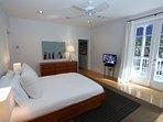 Queen Master Bedroom has LCD TV