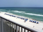 Beach View with Umbrella Setups