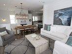Alternate Shot of Living Room Towards Dining