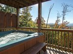Large Private Hot Tub Located On Deck