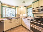 Kitchen, Stainless Appliances and Breakfast Bar