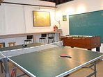 Games, Professional Foosball Table, Pinpong, Chalkboard Wall.
