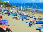 Abersoch Beach - cafes and sailing school