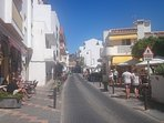 One of the quaint, traditional backstreets in La Cala